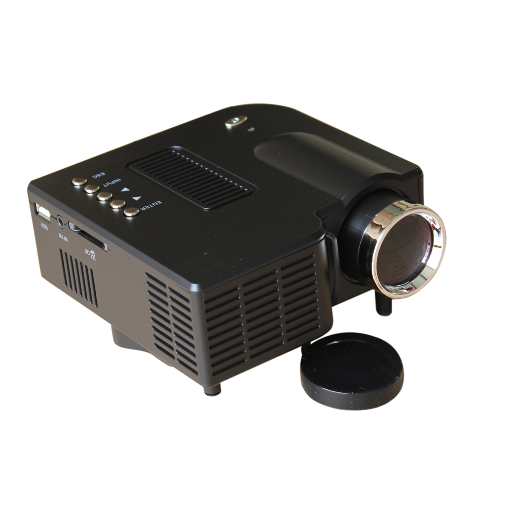 Direct shipping mini portable projector for Top rated pocket projectors