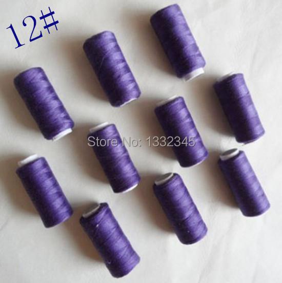 Each spool Free International area 10pcs100% polyester thread 218 yards 12#(China (Mainland))