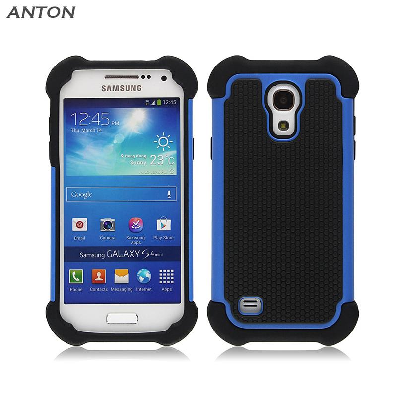Armor Heavy Duty Mini Plastic Case for Samsung Galaxy S4 Mini Grand Prime PC+TPU Silicone Protective Skin+Flim Cover EP002(China (Mainland))