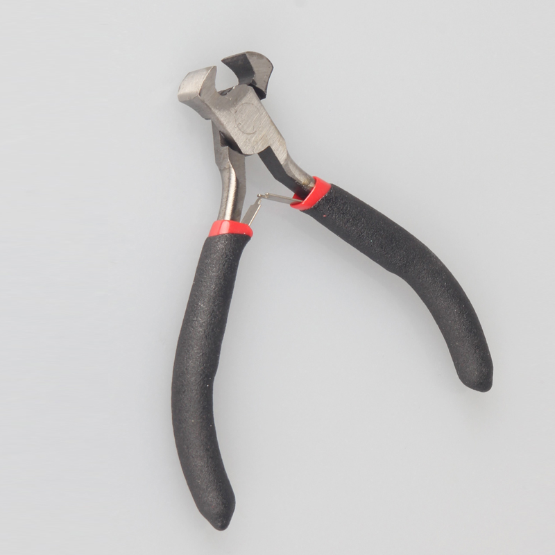 Free shipping Black Metal Mini Jewellery Jewelry Plier Cutter Chain Round Bent Beading Making Repair Tool Kit End cutting plier