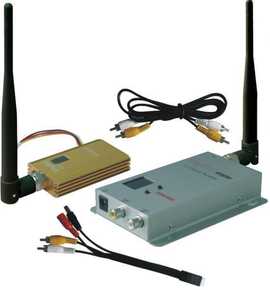 FPVOK 0.9Ghz 1500mW FPV System Video Transmitter and Receiver 900MHz Wireless AV Link CCTV 0.9Ghz Tx Rx set(China (Mainland))