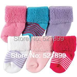 6pairs lot USA Luvable Friends 6 Pack Baby Newborn Socks 0 3M Cotton Baby Socks Market