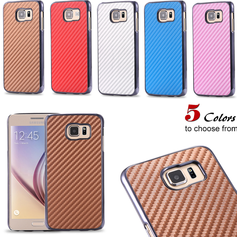 Luxury Carbon Fiber Case Samsung S6 SVI G9200 Hard Plastic & Super Armor Back Protective Cover Gel Shell Galaxy - Shenzhen RCD Technology Co., Ltd. store