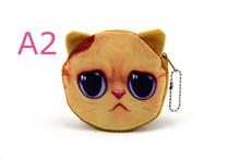20 видов стилей, новинка, чехол на молнии с 3D принтом кошки/собаки, Детский кошелек для монет, милый женский кошелек, Сумочка для женщин и дево...(China)