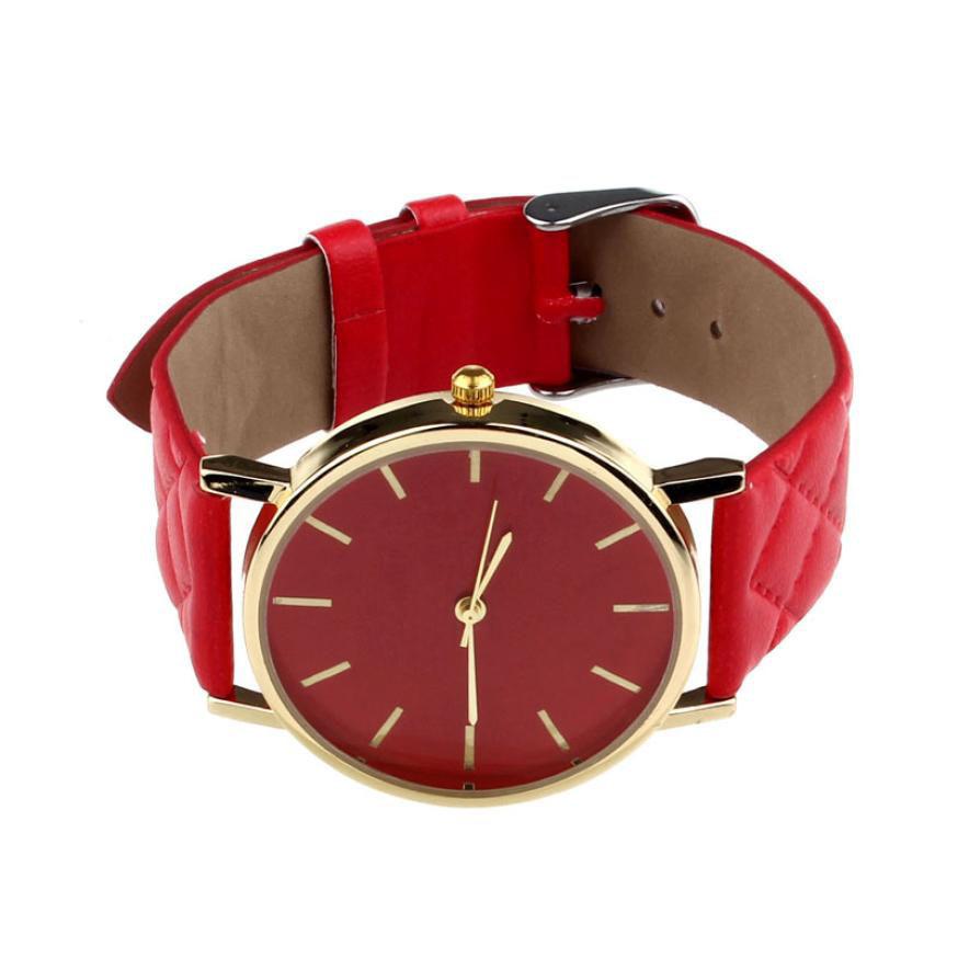 Гаджет  Delicate Unisex Casual Luxury Brand Hot Faux Leather Quartz Analog Wrist Watch nor5822 None Часы