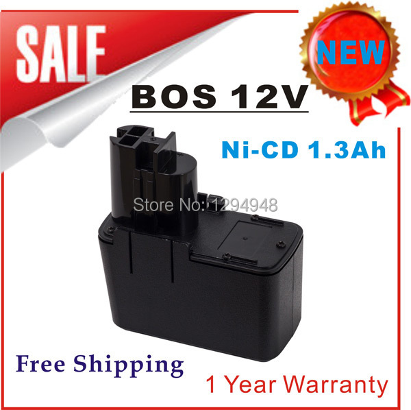 Free Shipping New 12V Ni-CD 1.3Ah Replacement Power Tool Battery for Bosch 2 607 335 055 2 607 335 090 BAT011 BH1214H(China (Mainland))