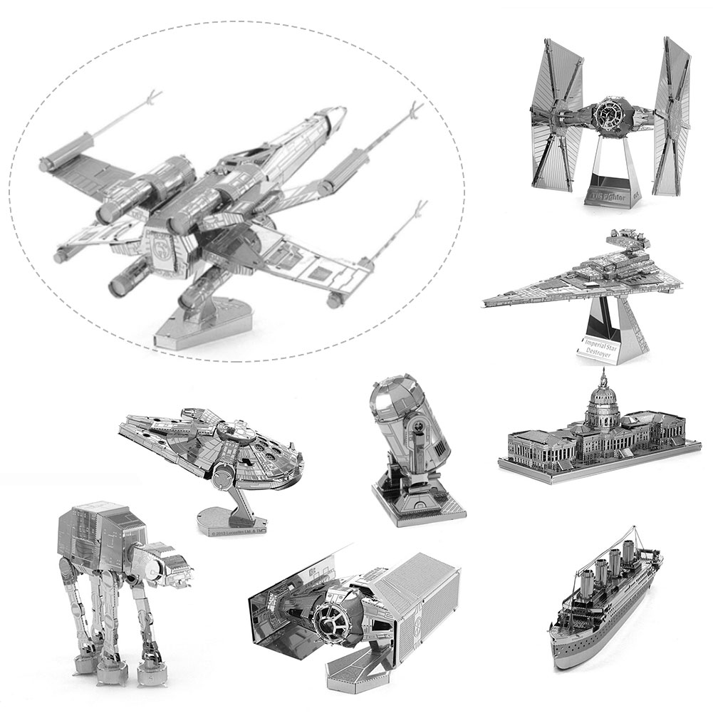 3D Metal Puzzles Laser Cut Jigsaws Fighter DIY Assemble Kid/Adult Gift(China (Mainland))