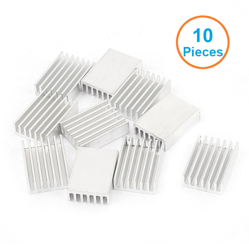 10pcs/lot Aluminum Heatsink 20x14x6mm Electronic Chip Cooling Radiator Cooler for IC MOSFET SCR,Router Heat Sink Extrusion Fins(China (Mainland))