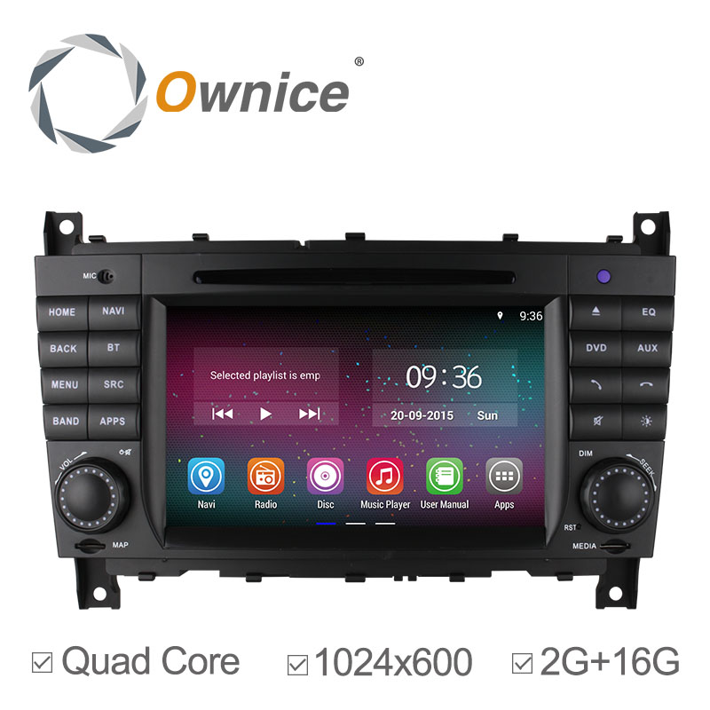 Ownice 2g ram Android 4.4 Car DVD for Mercedes Benz C Class W203 2004-2007 c200 C230 C240 C320 C350 CLK W209 2005 GPS HD1024*600(China (Mainland))