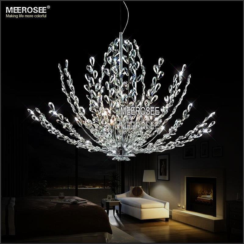 Modern crystal pendant light fixture vintage floral french for Lustre suspension moderne