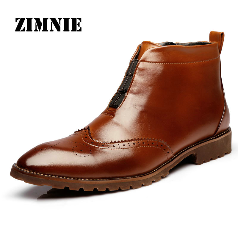 New Arrival Genuine Leather Men's Boots Fashion Bullock Style Men Short Boots Comfortable Men High Top Ankle Boot Shoes Men(China (Mainland))