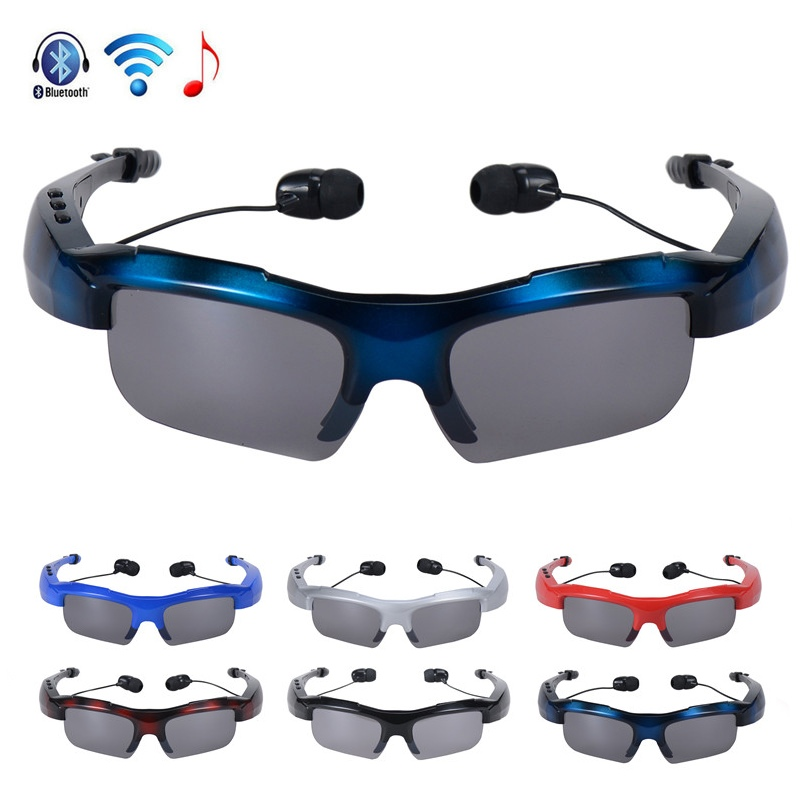 Newest Style Bluetooth Wireless Sunglasses Headset Handsfree Headphones Earphone mix color sunglasses Sports Sunglasses(China (Mainland))