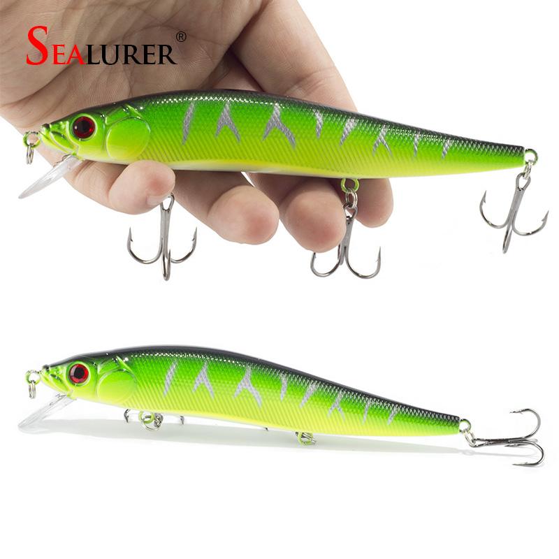 1PCS/lot 14 cm 23.7 g Fishing Lure Minnow Hard Bait with 3 Fishing Hooks Fishing Tackle Lure 3D Eyes Free Shipping(China (Mainland))
