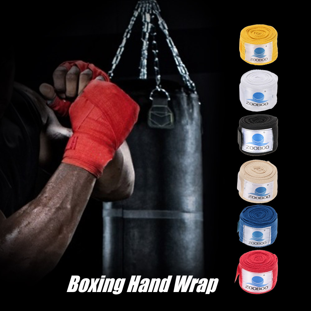 1 Pair 6M Boxing Hand Wraps Boxing Bandages Wrist Protecting Fist Punching Cotton Kickboxing Bandages Tape Training Safety Bands(China (Mainland))