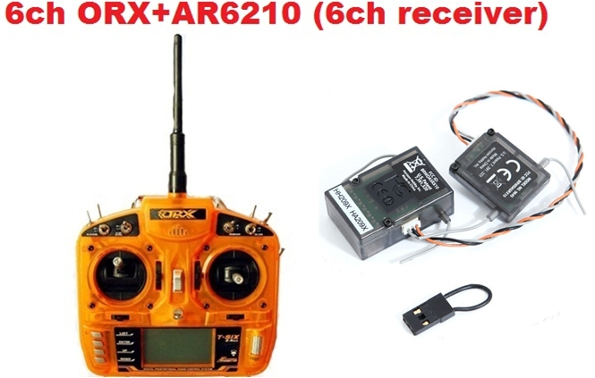 Free shipping-ORX Full Range 2.4G 6ch RC Transmitter (AR6210) satellite Receiver Surpass DX6i Helicopter, Quadcopter(China (Mainland))