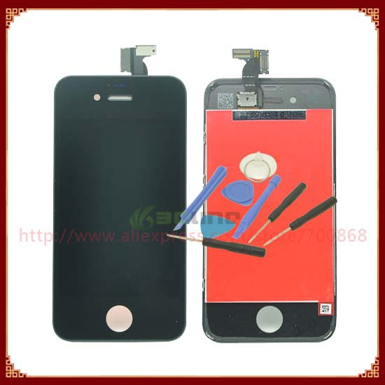 For iPhone 4s LCD Display+Touch Screen digitizer+Frame Assembly Free Shipping 100% Gurantee