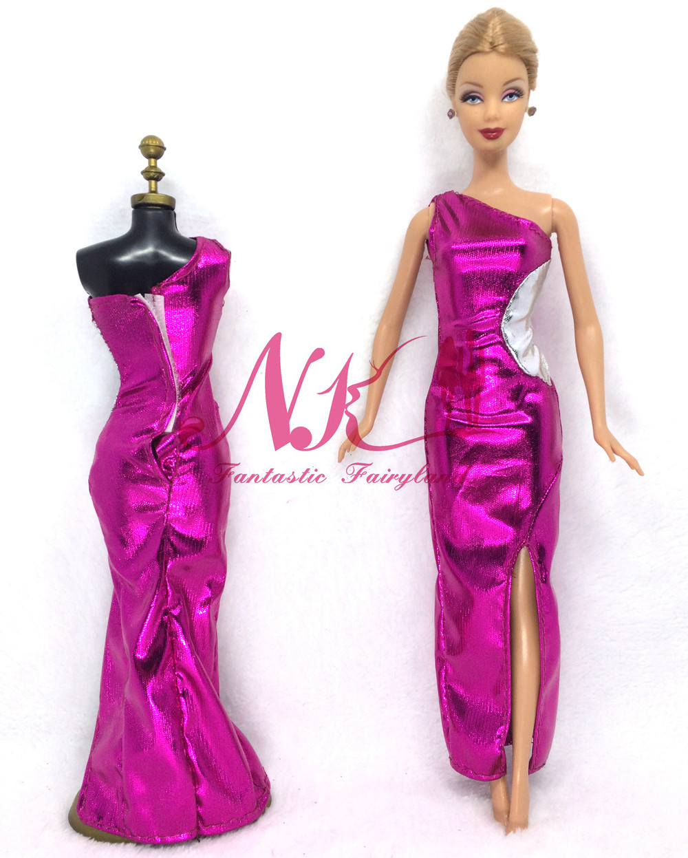 NK 2016 Latest Doll Costume Stunning Handmade Celebration ClothesTop Vogue Costume For Barbie Noble Doll Greatest Little one Ladies'Present 043A