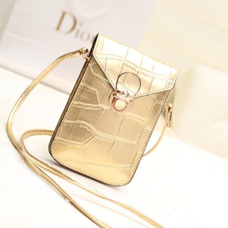 new fashion PU phone package crocodile small bag lovely retro mini packet shoulder bag Messenger Bag diagonal handbags(China (Mainland))