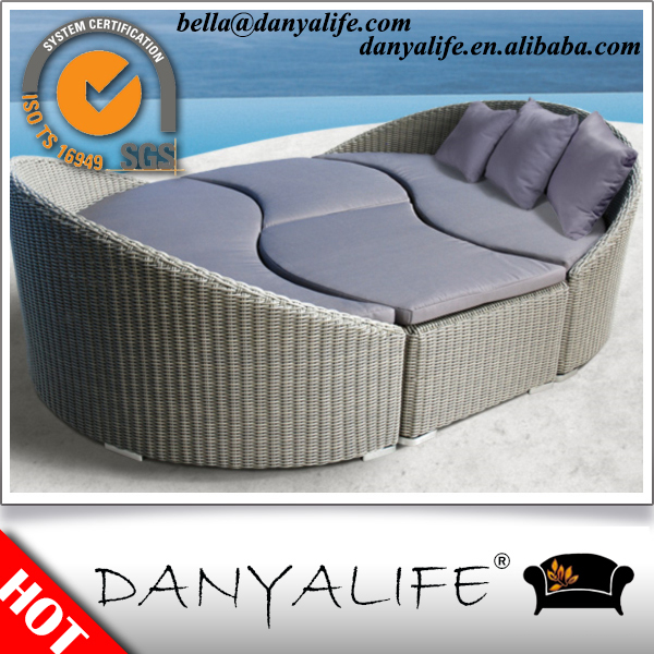 DYBED-D4208 Danyalife OEM Backyard Furniture PE Rattan Outdoor Daybed(China (Mainland))