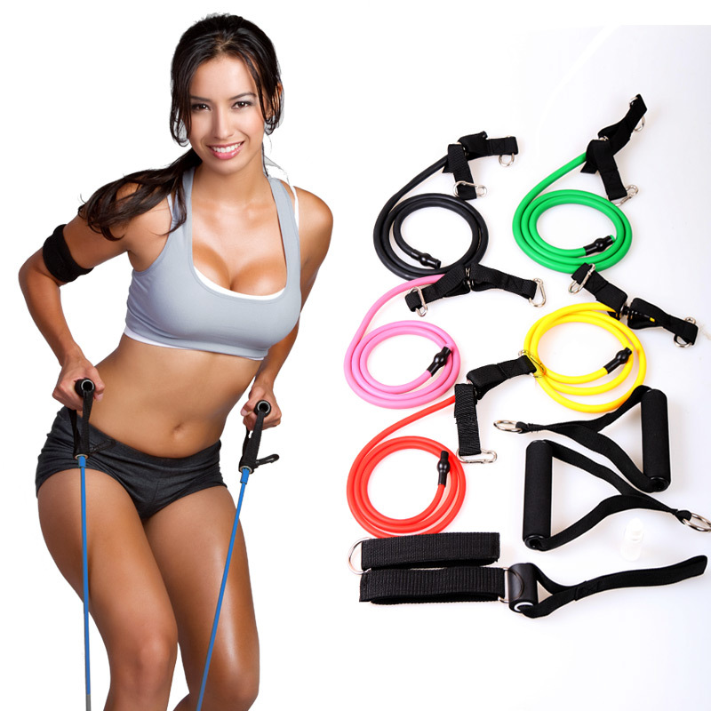 yoga Tube body band spring exerciser tube Resistance Bands ,rope latex chest chest expander indoor sports fitness relax tools(China (Mainland))