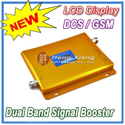 LCD Display !! GSM 900Mhz DCS 1800MHz Dual Band Signal Booster , Mobile Phone Repeater + Power Adapter - Shenzhen Hengxiang Technology Co., Ltd store