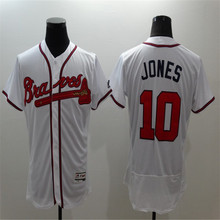 2016 New Fabric Flexbase Version #6 Bobby Cox #10 Chipper Jones Jersey Color Green Red White Jersey(China (Mainland))
