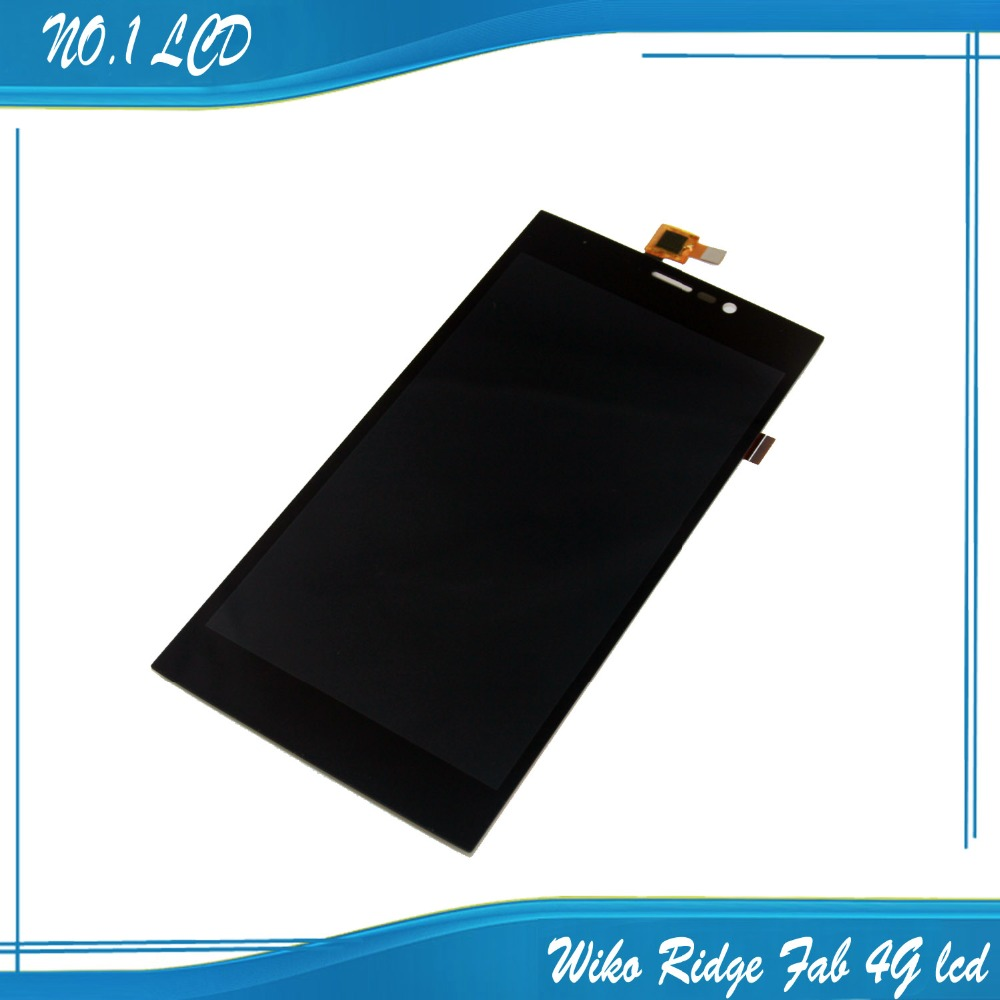 Original Wiko Ridge Fab 4G LCD and Touch Screen Assembly Digiziter Replacement for Wiko Ridge Fab 4G Free Shipping-Black
