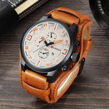 Nouveau CURREN Top marque de luxe hommes montres hommes horloges Date Sport militaire horloge en cuir bracelet Quartz affaires hommes montre cadeau 8225(China)