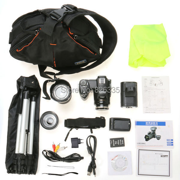 5MP CMOS D3300 Photo Video Digital Camera 21X Optical Zoom Three Lens LED Headlamp with Camera