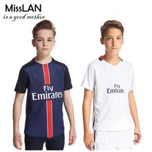 Best Thailand Quality Children 2016 Ibrahimovic verratti Short Suit,di maria Kids Size Shirt+Short,2-12Y Boys Athletic Wear