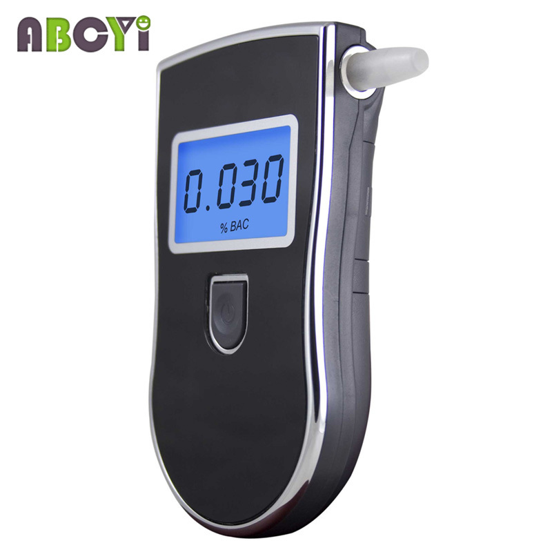 Patent LCD Professional Police Digital Breath Alcohol Tester Car Gadget Portable Breathalyzer AT818 with 5 Mouthpieces Dropship(China (Mainland))