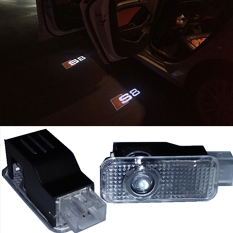 LED Car Logo Projector Door Laser Light Ghost Shadow Light For Audi A8 S8 2004-2016(China (Mainland))