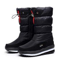 Phụ Nữ Ủng Nền Tảng Mùa Đông Giày Dày Sang Trọng Chống Trượt Chống Thấm Nước Giày Nữ Mùa Đông Giày Botas Mujer(China)