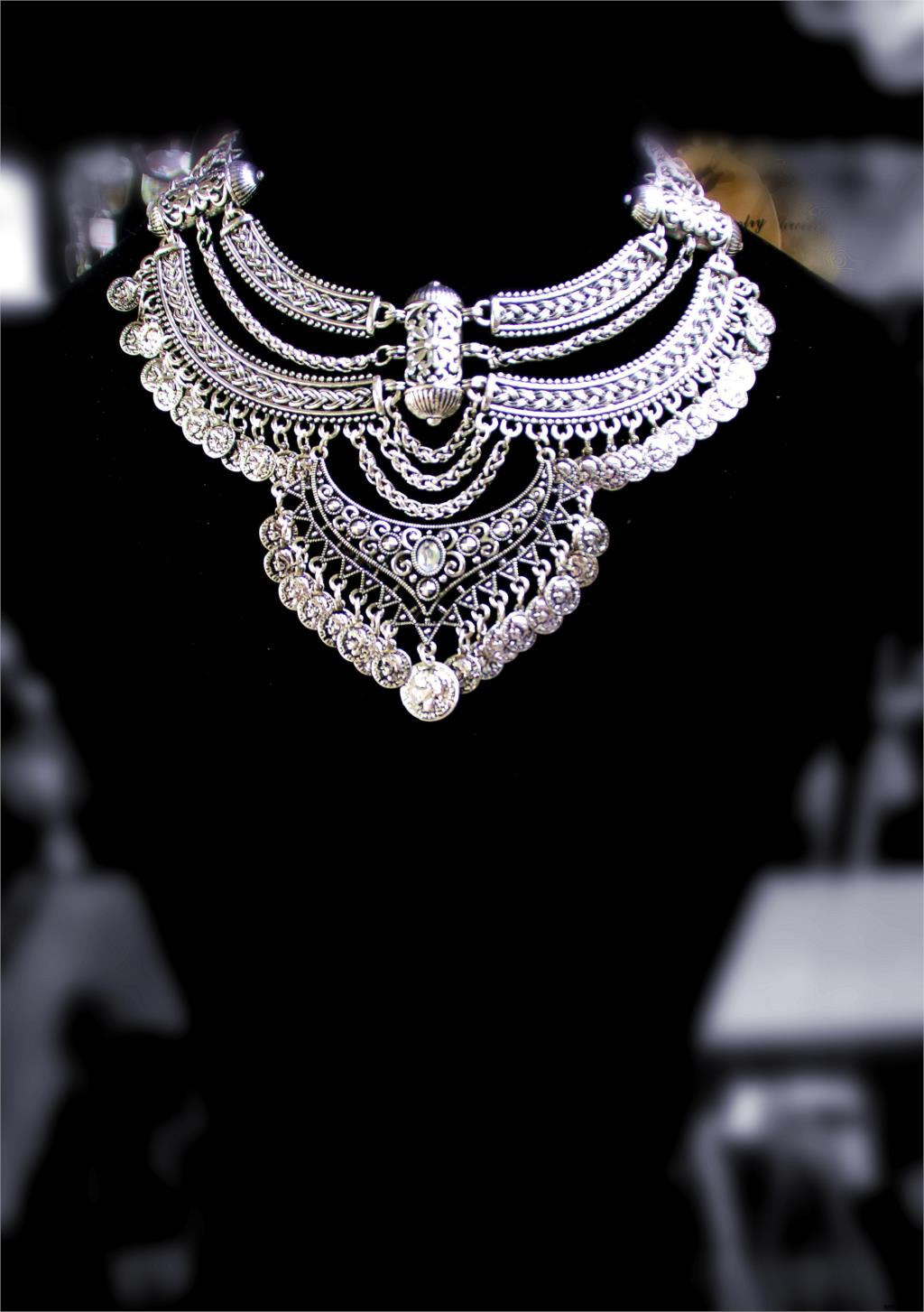 """2015 New pattern allloy collar """"The Eagle Seal"""" maxi necklace good quality choker fine jewelry(China (Mainland))"""