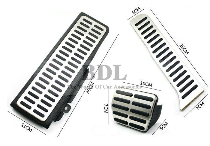 For LHD VW Golf 5 6 MK6 Jetta MK5 Scirocco Octavia Stainless Steel Automatic DSG AT Car Pedal(China (Mainland))