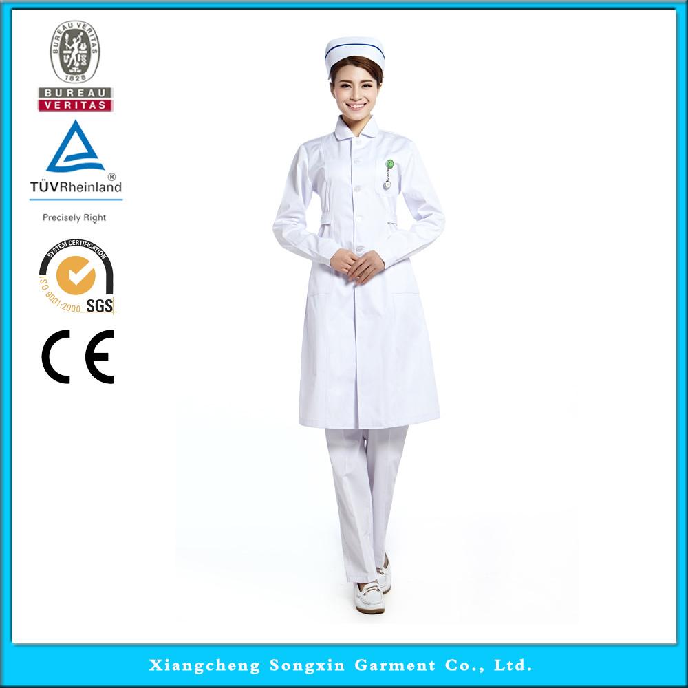 2015 OEM nurse coat hospital uniforms scrubs medical hot selling(China (Mainland))