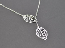 Buy 10PCS- N024 Double Nature Leaf Necklaces Plant Lariat Leaf Pendant Necklace Tree Hollow Fallen Leaves Necklace Ladies Women for $15.90 in AliExpress store
