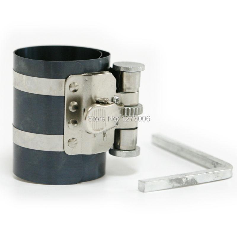 1Pcs Auto Piston Ring Compressor Strong Spring Steel Piston Ring Compressor With Wrench Free Shipping(China (Mainland))