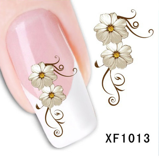 Flower Nail Sticker Water Decal Transfer All For Nail Wrap Designs Cosmetic Arts Polish Nails Decorations New Arrive BXF1013(China (Mainland))