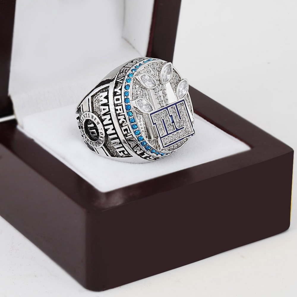 hot ! silver plated 2011 NY giants size 10 11 12 13 replica super bowl rings championship ring men gift - arky chen's store