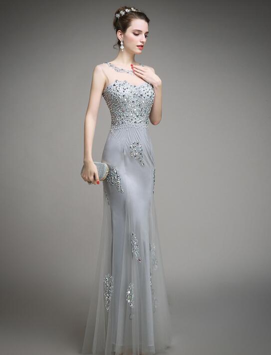 Online Get Cheap Women Grey Silver Dress -Aliexpress.com   Alibaba ...
