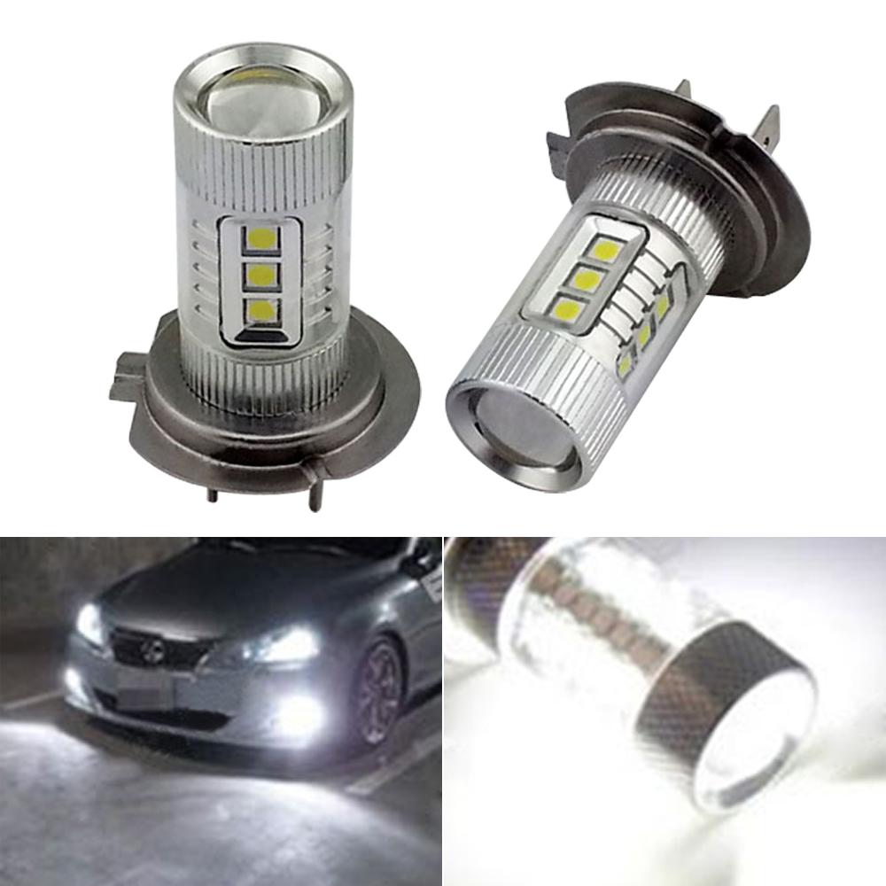 2 x 6000K Xenon White H7 LED Bulbs Hyundai High Beam Daytime Running Lights - Bosscar Motoring Store store