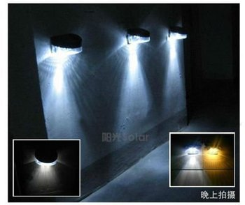 Free shipping! 3XOutdoor Garden Wall Solar Powered LED Pathway Wall Landscape Fence Light Lamp