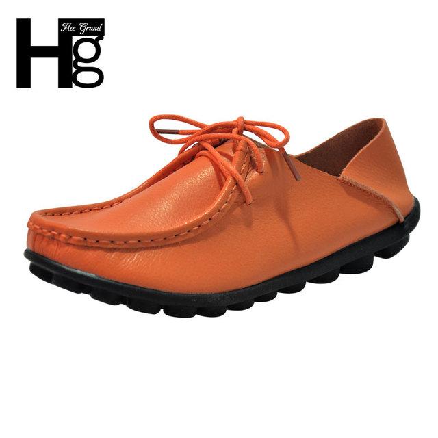 Супер-мягкие пу кожаные ботинки причинные квартиры женская мода обуви женские бездельник ...