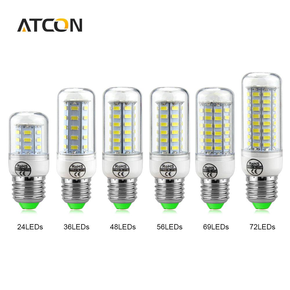 1Pcs High Lumen 24 36 48 56 69LEDs E27 E14 220V LED Corn lamp Chandelier 5730 SMD Spot light LEDs Bulb Indoor lighting(China (Mainland))