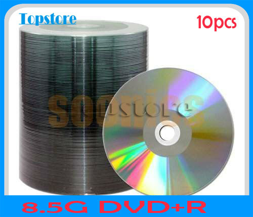 product 10pcs/lot 8.5GB Blank Discs Recordable Printable DL DVD+R DVDR Disc Disk Free Shipping & Drop Shipping