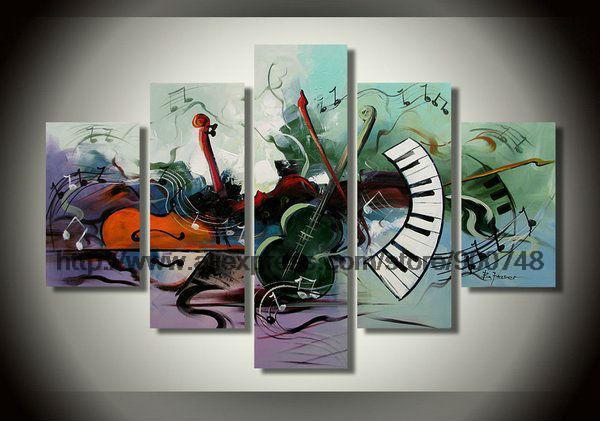 Canvas Artwork Musical Instrument Theme Home Decor Art Wall Modern Painting Abstract Wall Art Large Canvas Painting Abstract(China (Mainland))