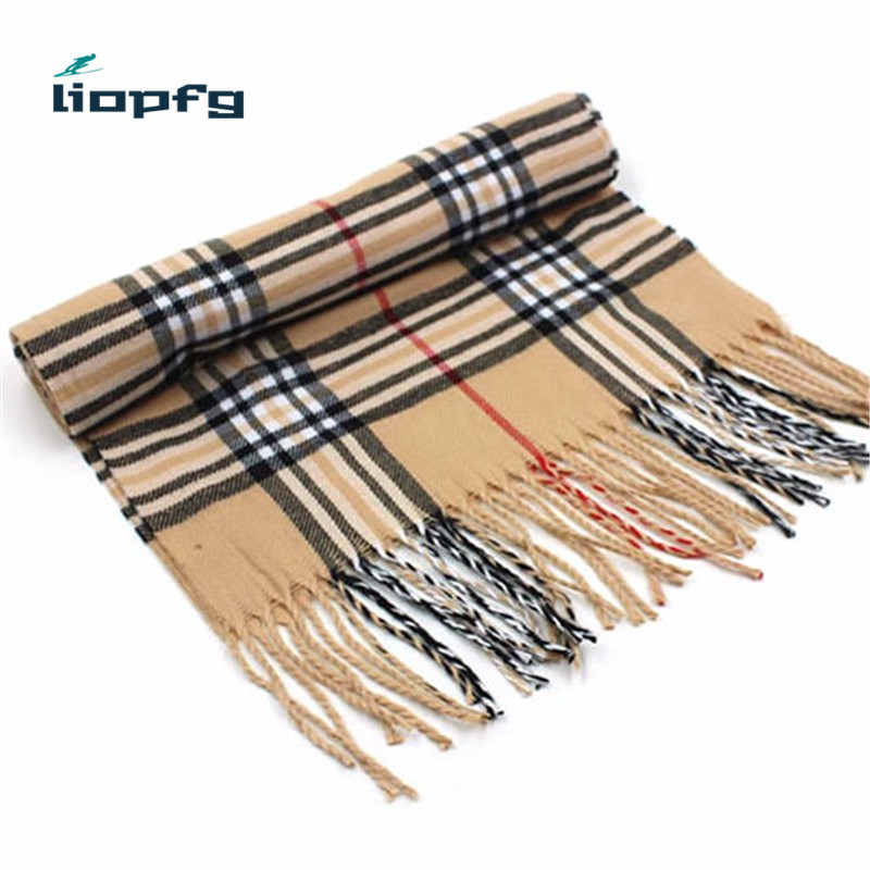 Winter Brand Cashmere Scarf Women Blanket Scarf Plaid Wraps long Scarf 2016 Pashmina Cashmere Shawls And Scarves Tassel WJ14(China (Mainland))