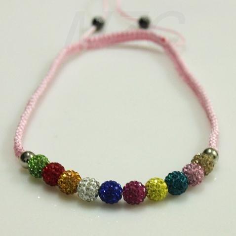 Best Christmas Gift!10mm 11 x Crystal Disco Ball Shamballa Necklace.AFD2297 Fashion Jewelry.Hotsale Kids Jewellery Promotion!(China (Mainland))