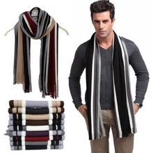 fashion male scarfs mens winter scarves cotton striped shawls and scarves wrap, echarpes men/10 colors/ATW(China (Mainland))